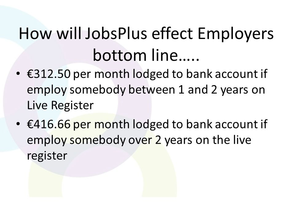 How will JobsPlus effect Employers bottom line…..
