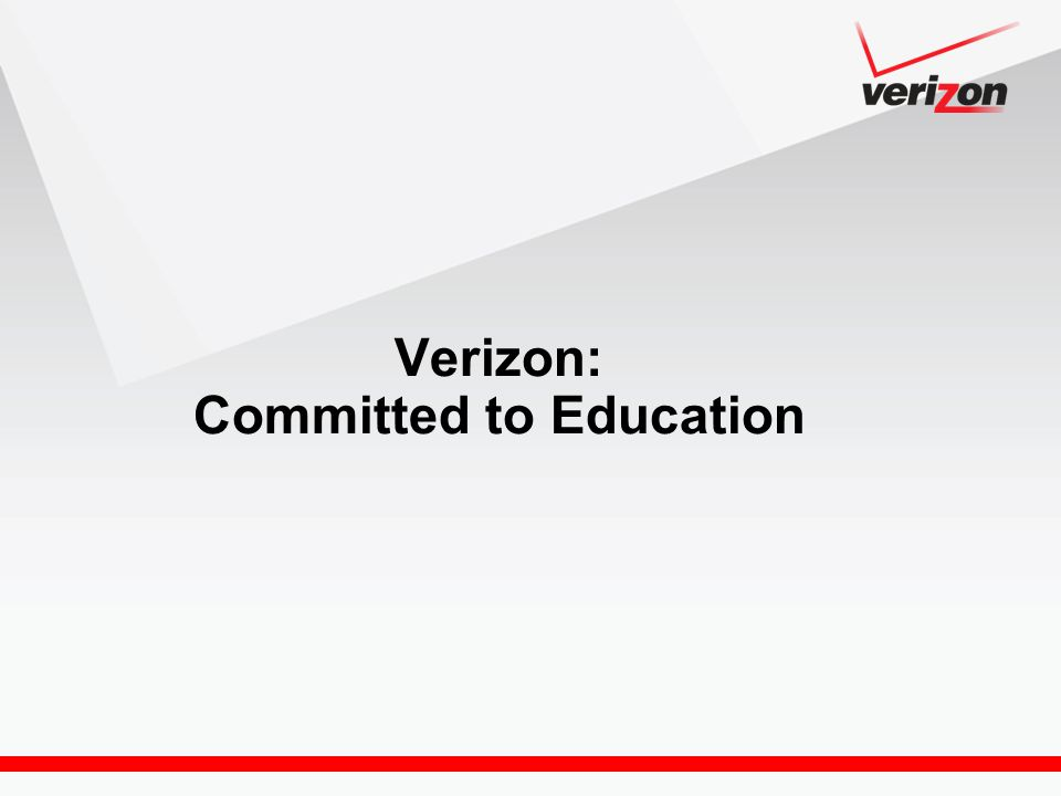 Verizon: Committed to Education