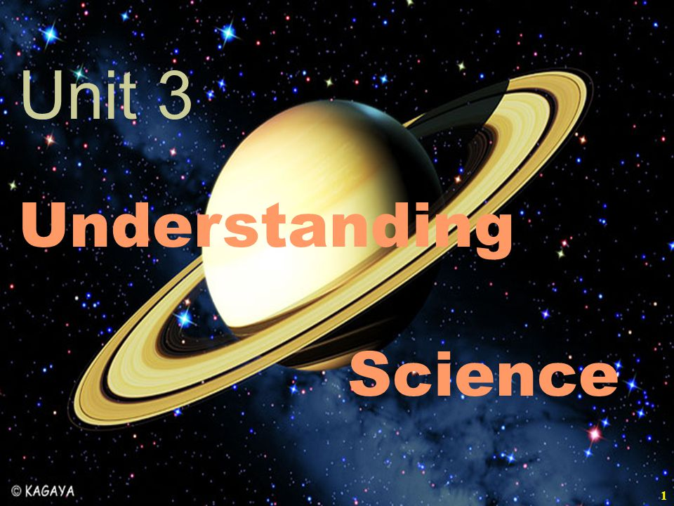 Unit 3 Understanding Science 11