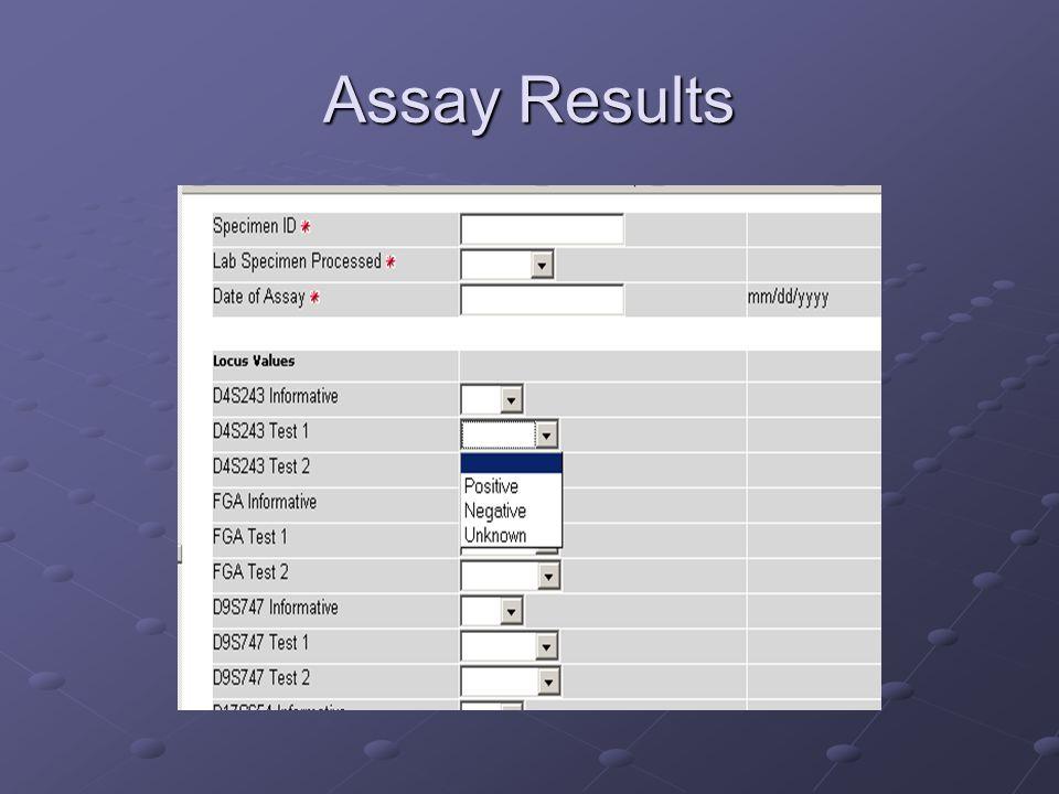 Assay Results