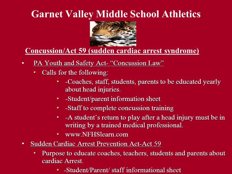 Garnet Valley Middle School Athletics Athletic Schedules/Information Garnet Valley Middle School Athletic Website.