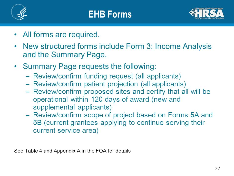 EHB Forms All forms are required.