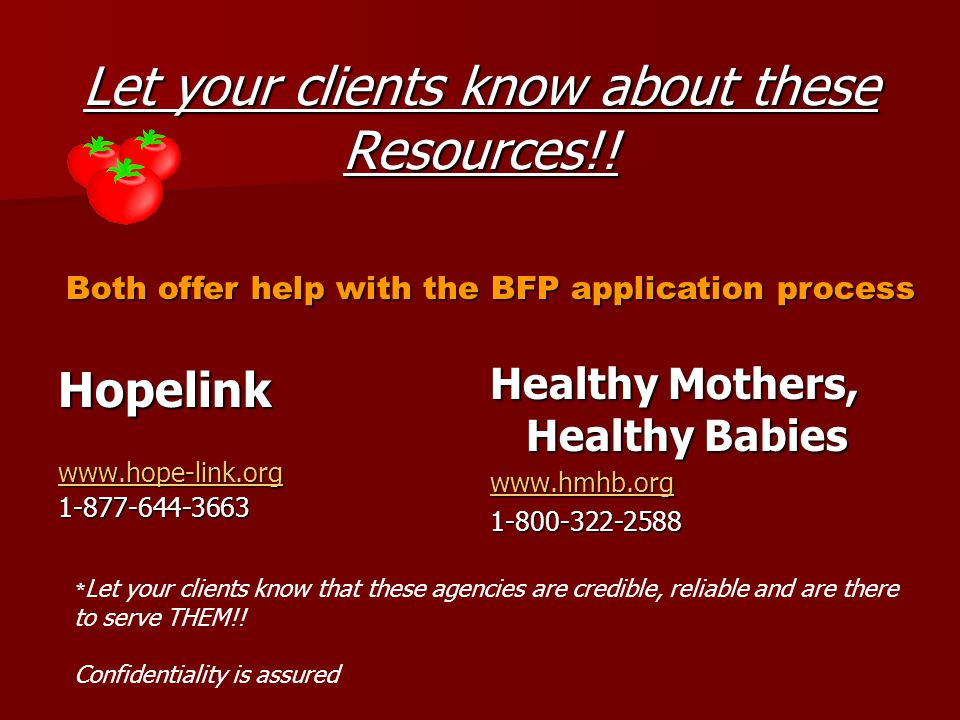 Let your clients know about these Resources!.