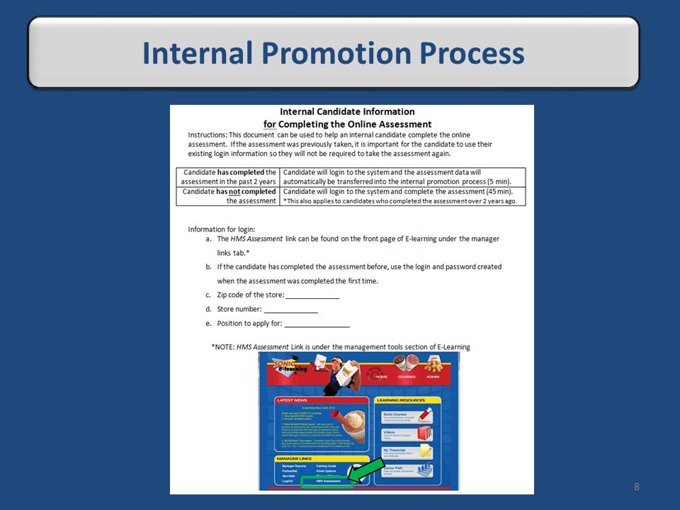 8 Internal Promotion Process