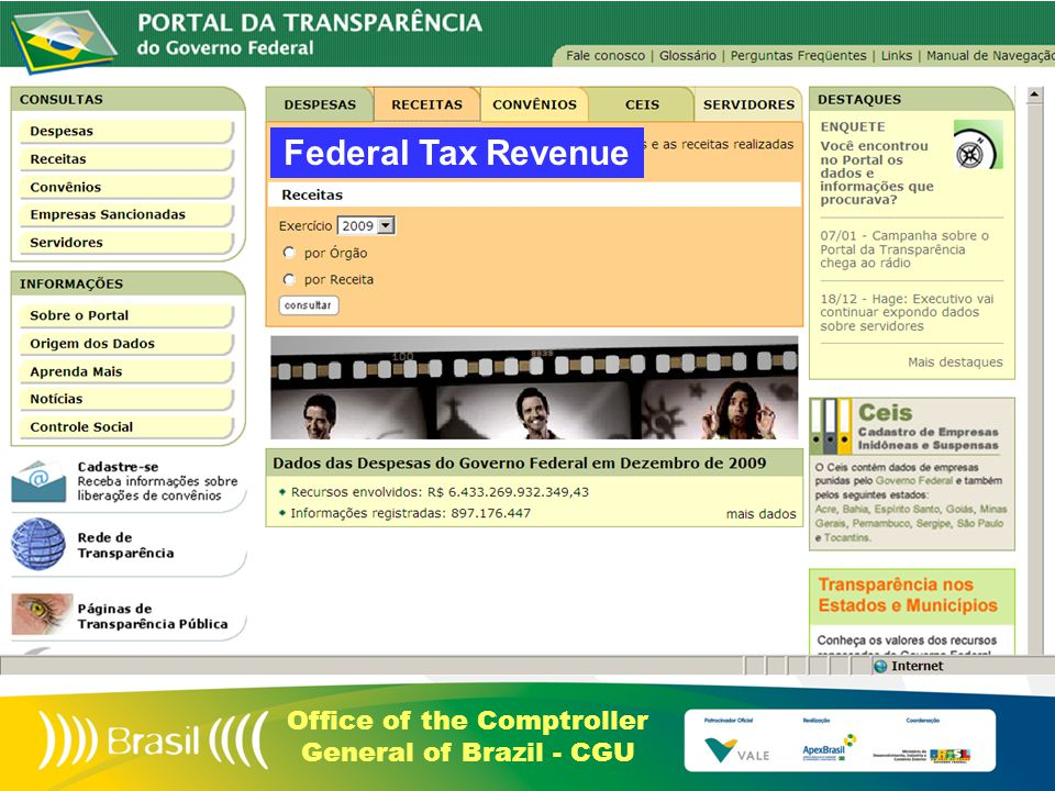 Office of the Comptroller General of Brazil - CGU Federal Tax Revenue