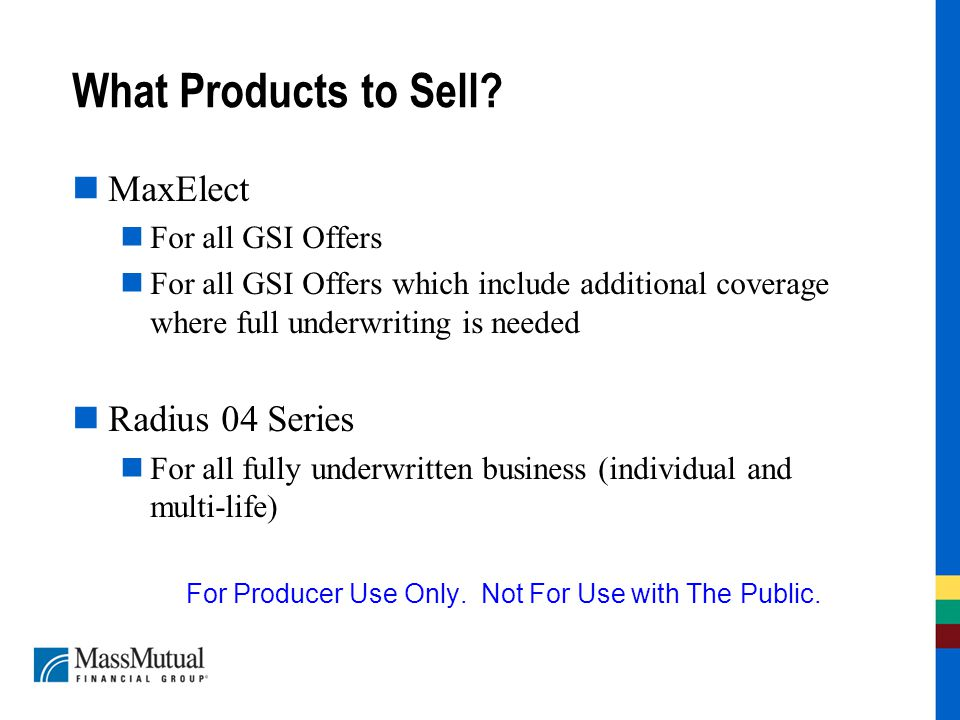 What Products to Sell.