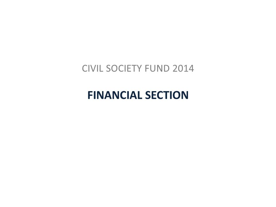 CIVIL SOCIETY FUND 2014 FINANCIAL SECTION