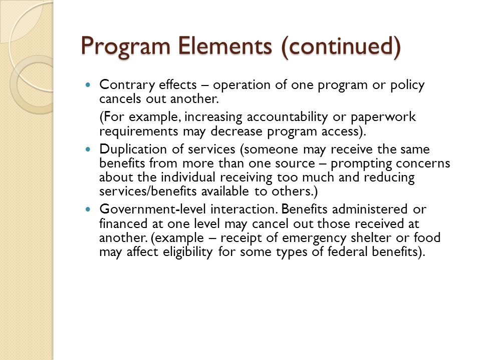 Things to take into consideration in policy analysis: Context of Social Problem Definition of Problem Ideological Perspective Causal analysis (what theories are used to explain the problem).