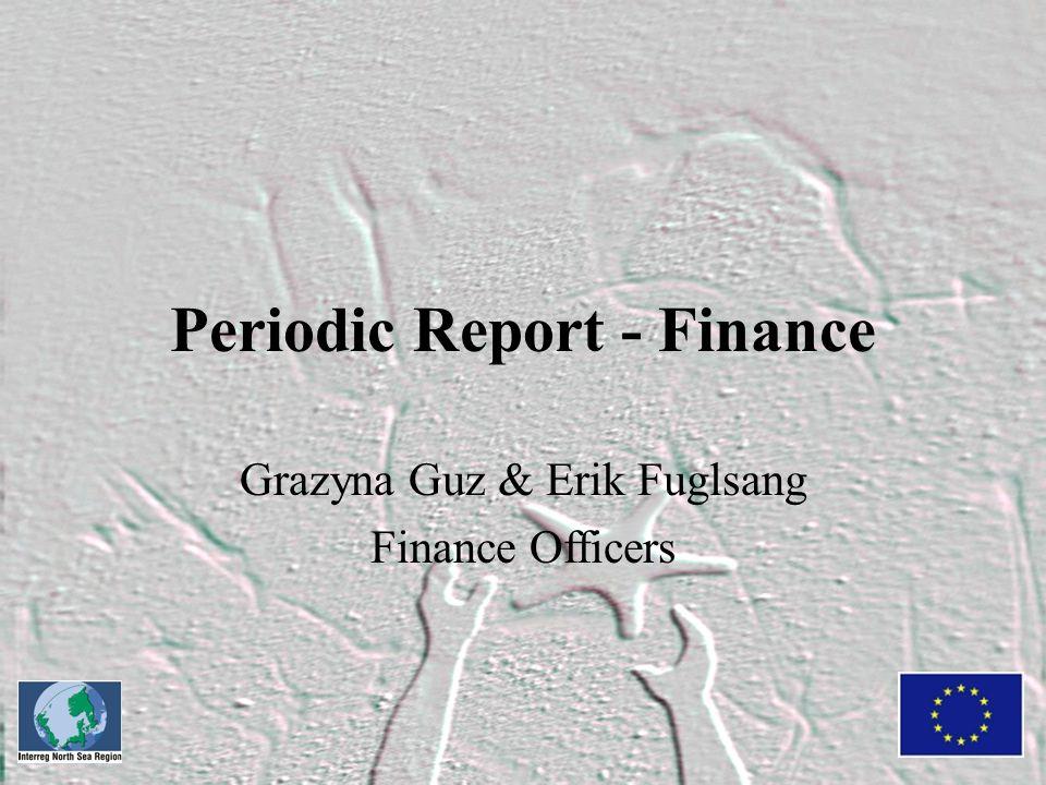 Periodic Report - Finance Grazyna Guz & Erik Fuglsang Finance Officers
