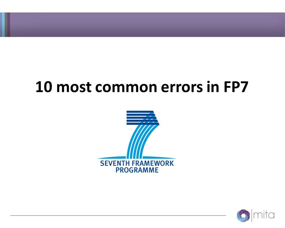 10 most common errors in FP7