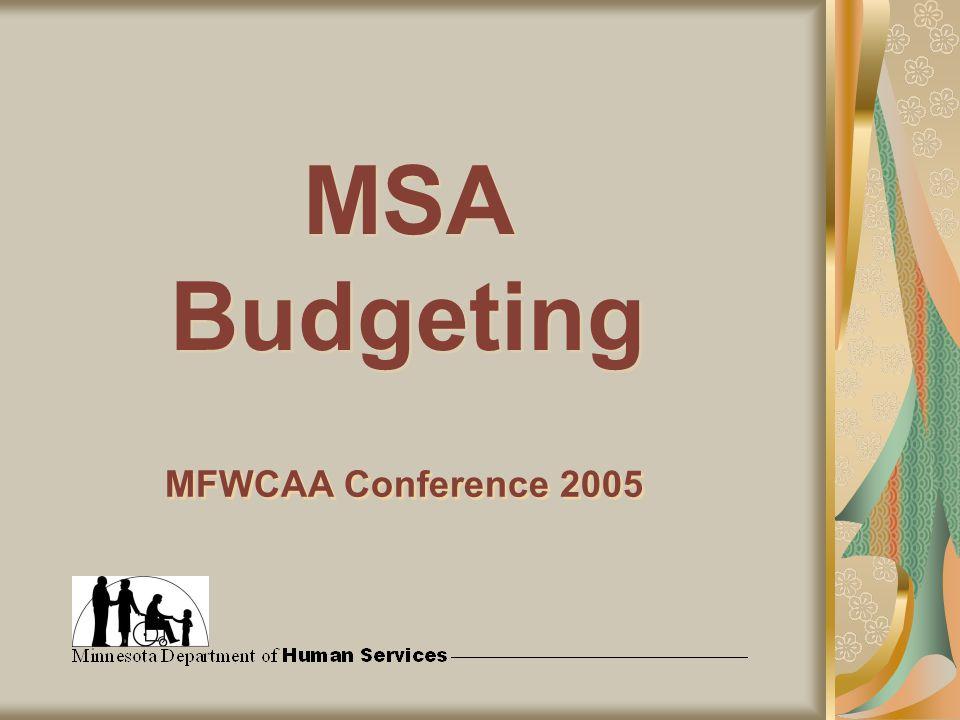 MSA Budgeting MFWCAA Conference 2005