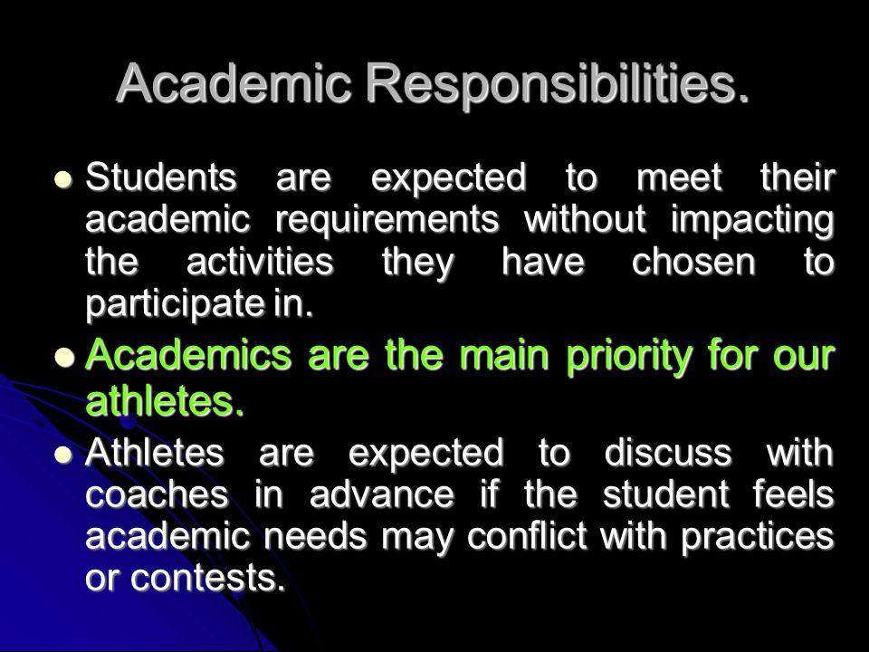 Academic Responsibilities.