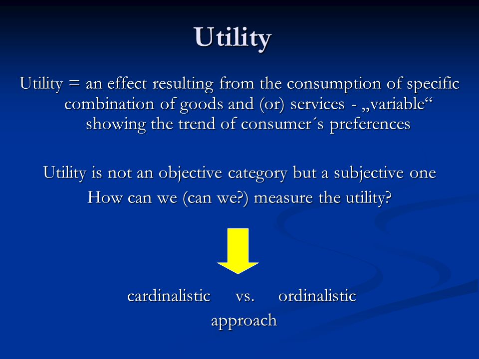 Rationality: summarry  rational behavior leads to maximizing the consumer´s total utility  rationality is a subjective category: we cannot say that this or that behavior is rational and this or that irrational  in general – consumers behave themselves rationally, because they do their best decisions under given conditions (given information, disposable income, prices of goods and services etc.)