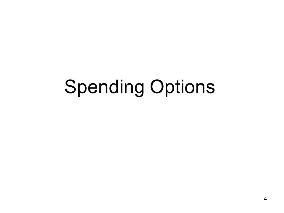 4 Spending Options