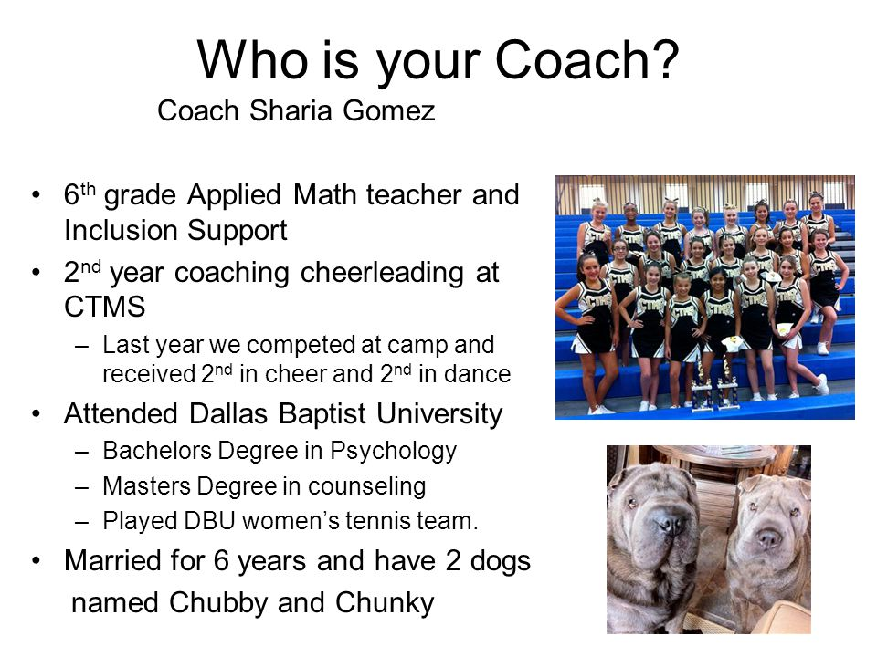 Who is your Coach.