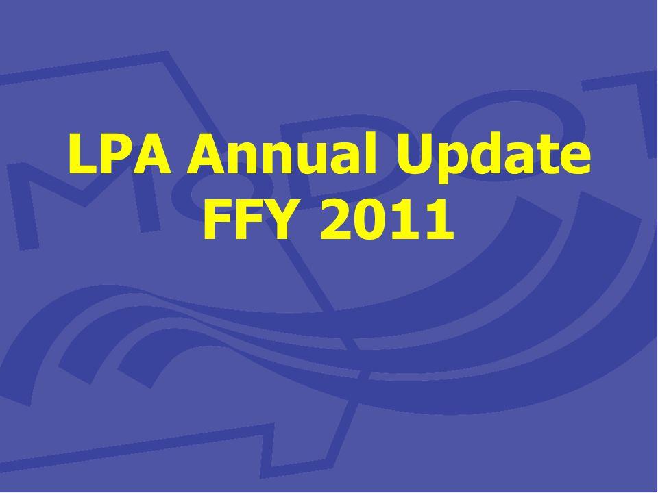 LPA Annual Update FFY 2011