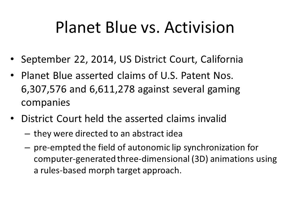 Planet Blue vs.