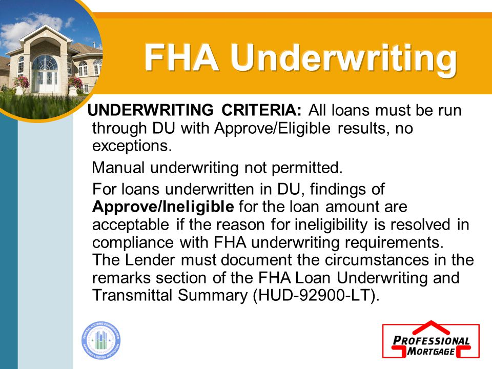 Eligible borrowers: Includes individuals and investors (under limited circumstances).