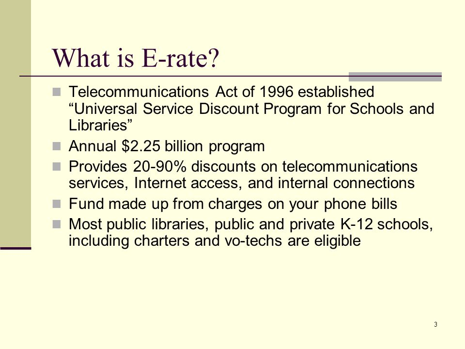 3 What is E-rate.