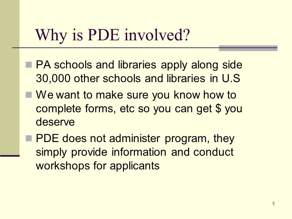 5 Why is PDE involved.
