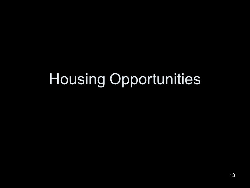 13 Housing Opportunities