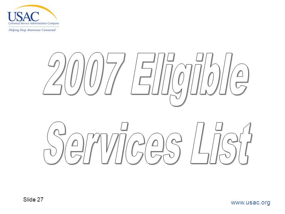 www.usac.org Slide 27