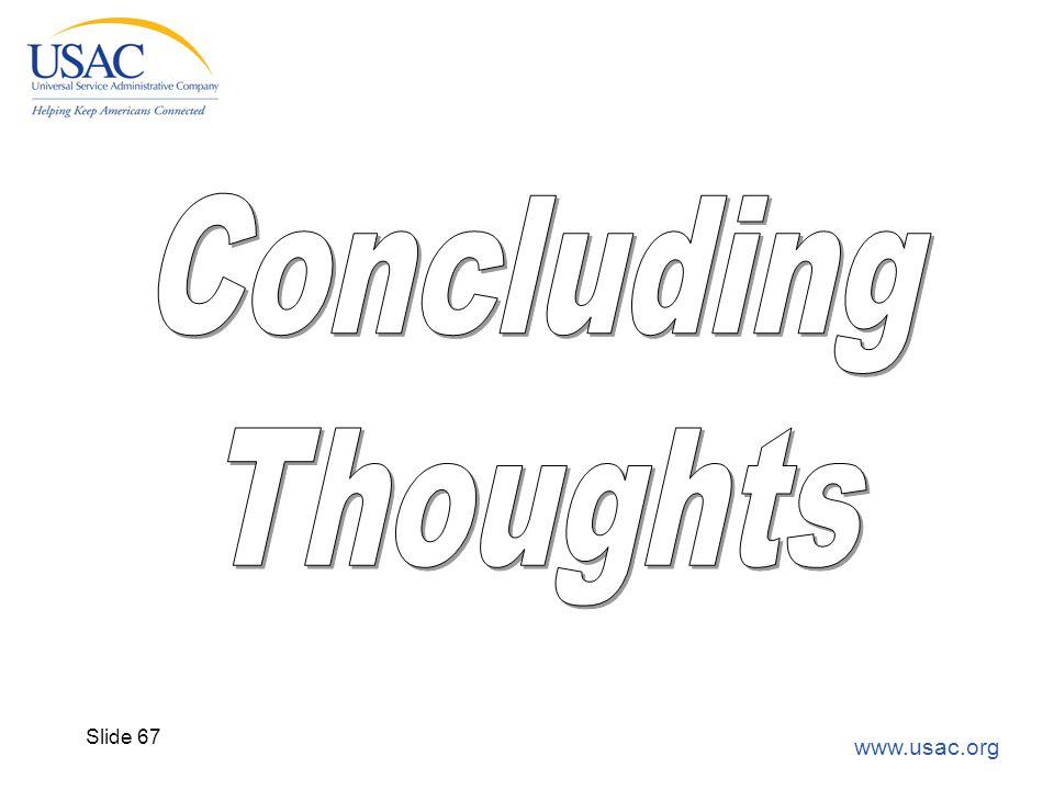 www.usac.org Slide 67