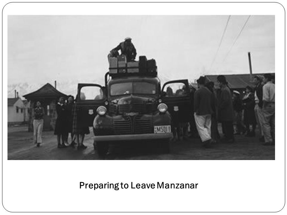 Preparing to Leave Manzanar