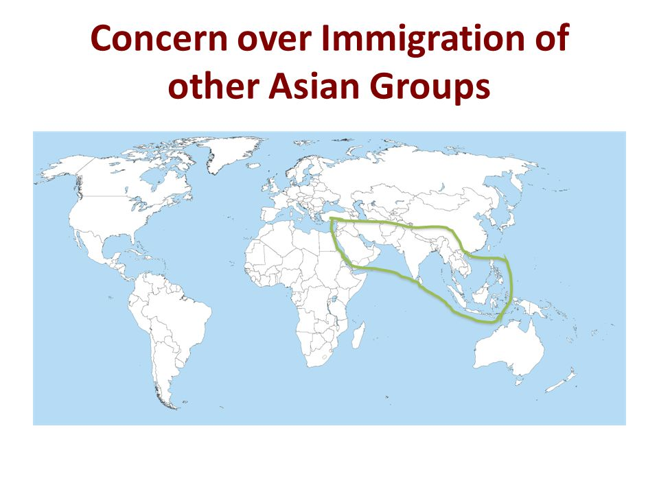 Concern over Immigration of other Asian Groups