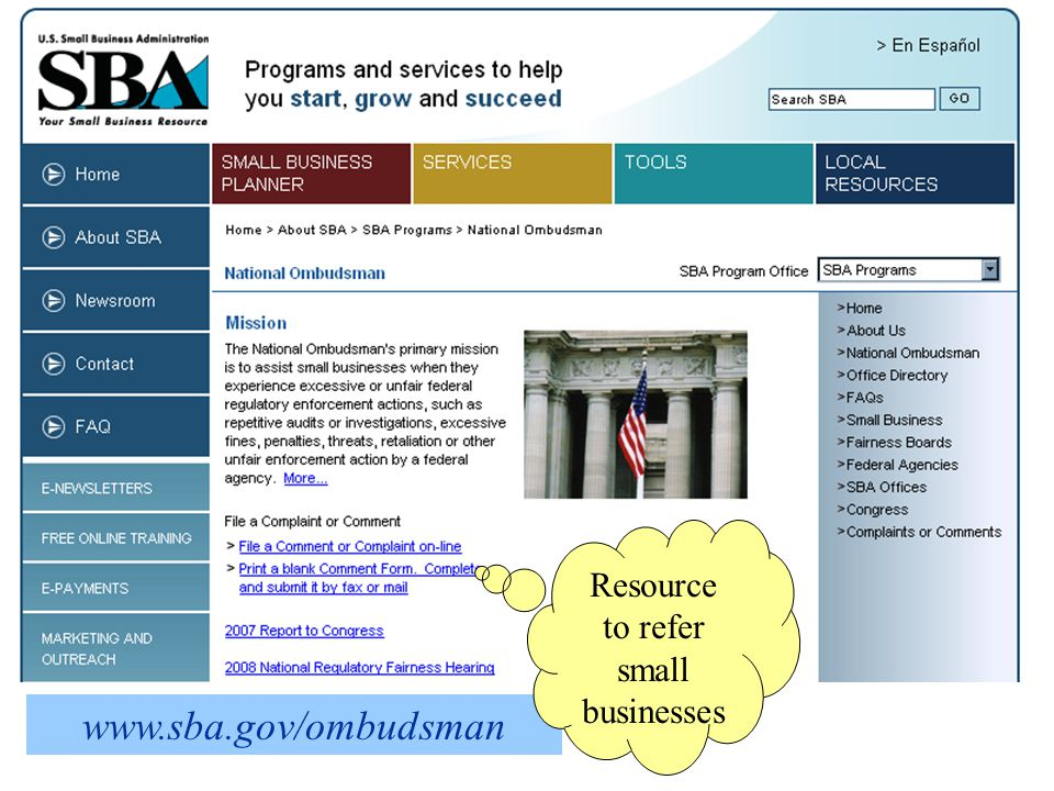  Focus on: regulatory policy, SB research and statistics, state & regional, and uncategorized issues.