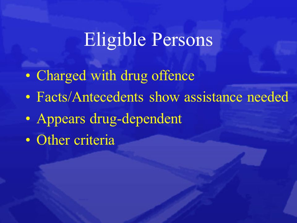 Ineligibility Drug traffickers Violent conduct/Sexual offences Prescribed Offense