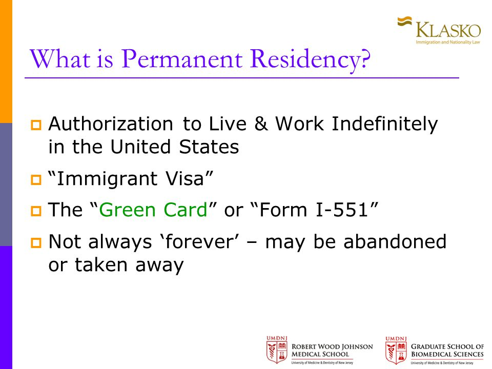 What is Permanent Residency.