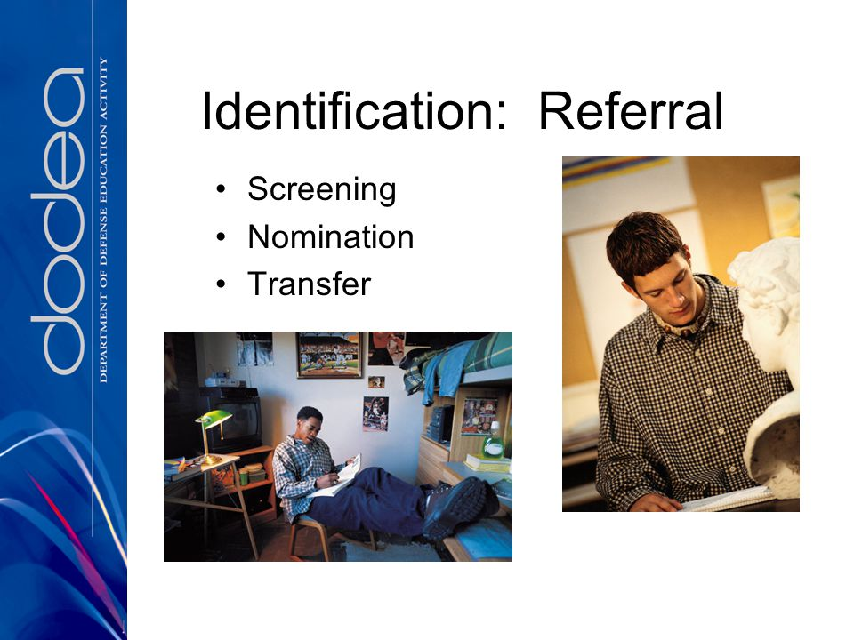 Identification: Referral Screening Nomination Transfer