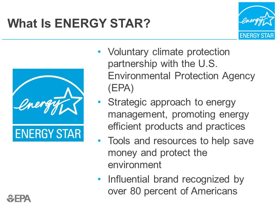 What Is ENERGY STAR. Voluntary climate protection partnership with the U.S.