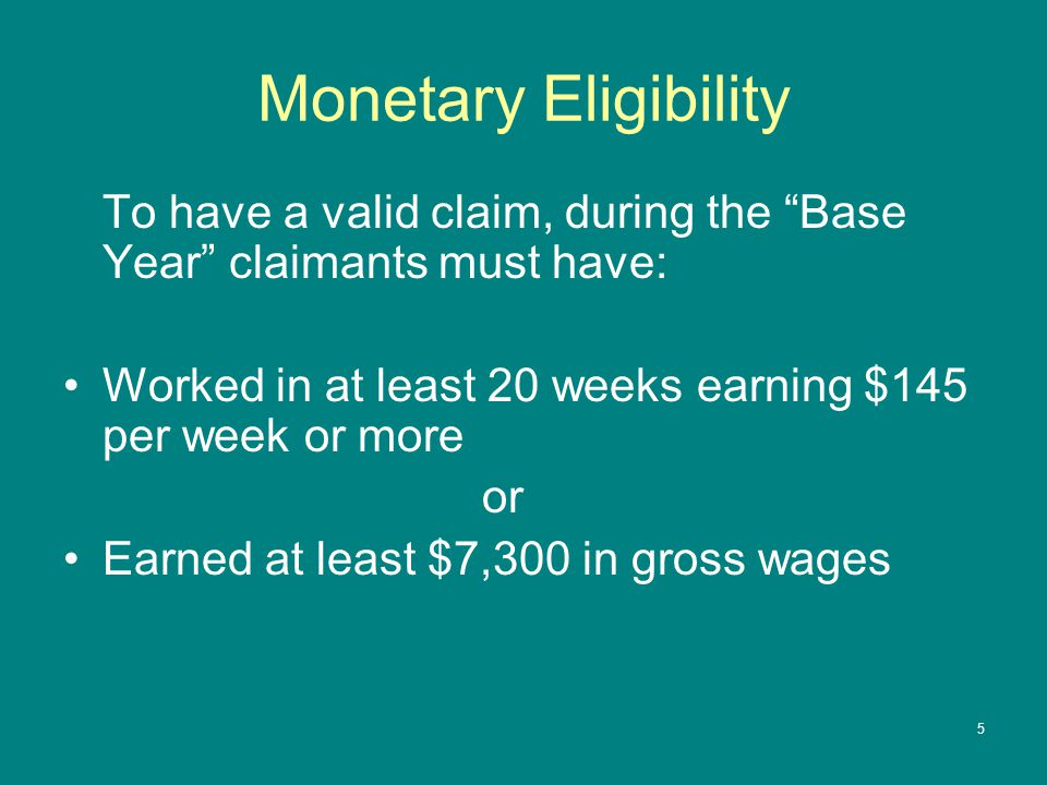 6 Weekly Benefit Rate (WBR) The maximum rate for 2013 is $624 The WBR is calculated by taking 60% of your Average Weekly Wage (which is your total wages earned ÷ weeks worked during your base year) Example: Earned $40,000 over 52 weeks  AWW = $769 x 60% = $461 WBR