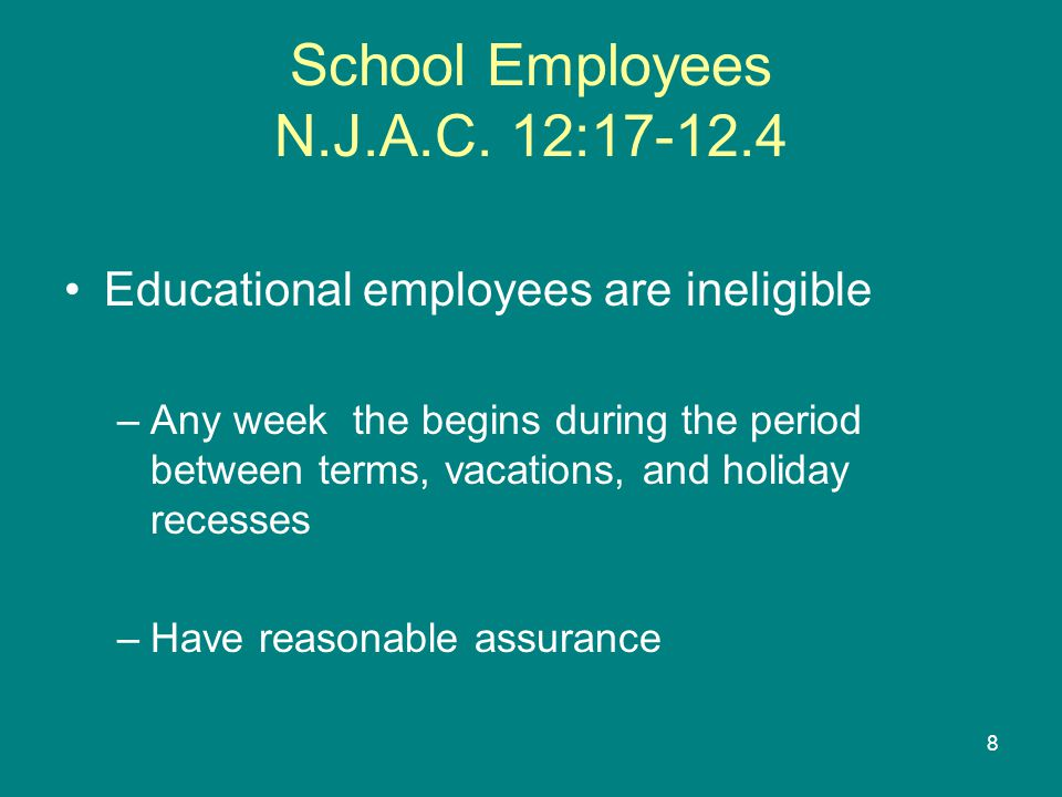School Employees N.J.A.C.