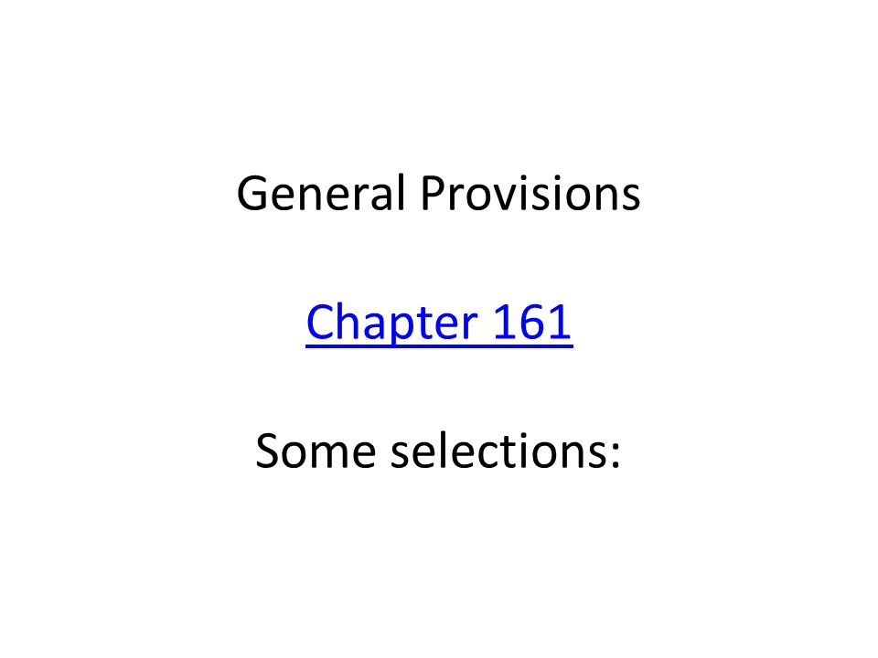 Primary Elections Chapter 172 Some Selections Chapter 172