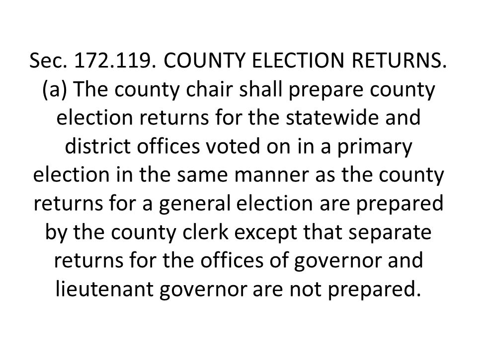 Sec. 172.119. COUNTY ELECTION RETURNS.