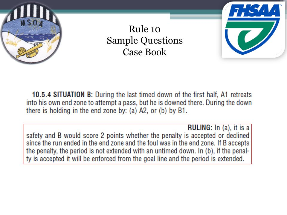 Rule 10 Sample Questions Case Book