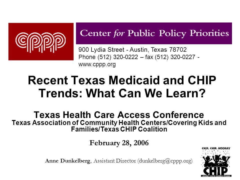 1 Recent Texas Medicaid and CHIP Trends: What Can We Learn.