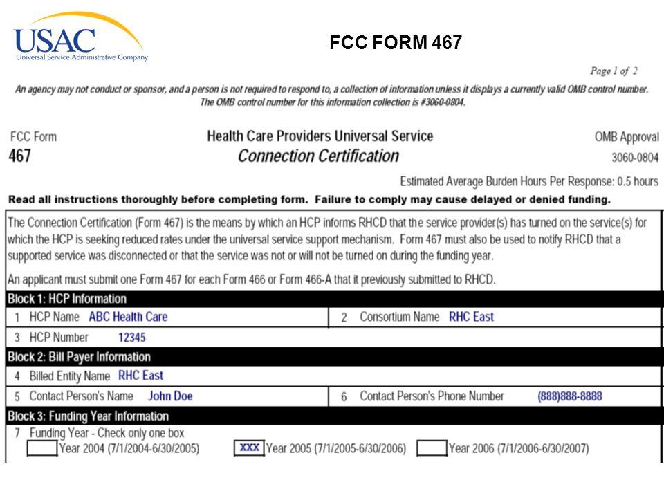 FCC FORM 467