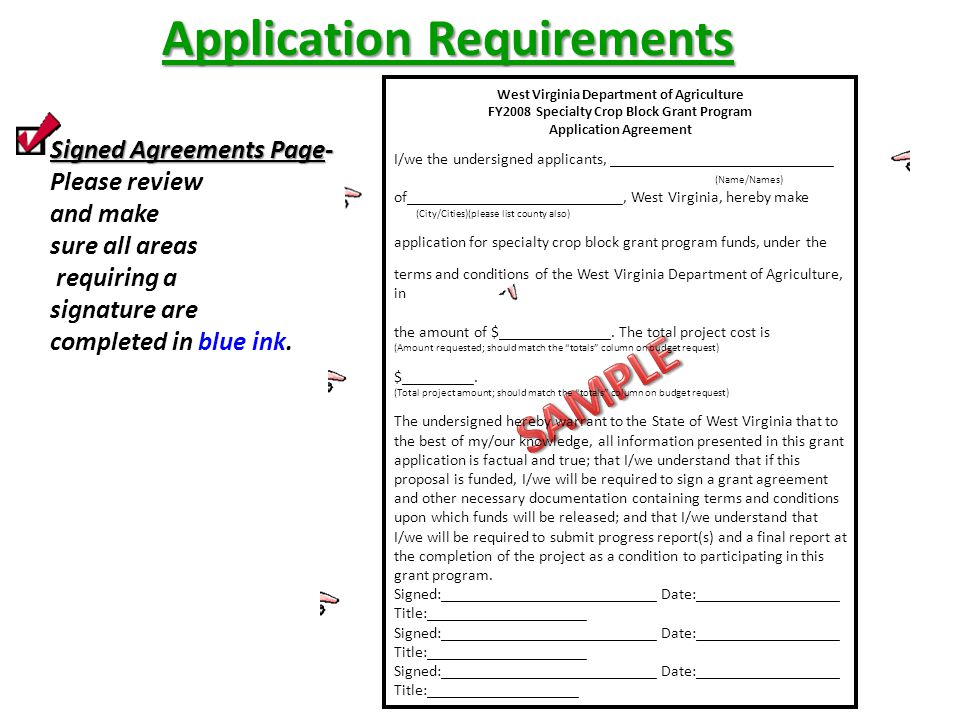 Signed Agreements Page- Please review and make sure all areas requiring a signature are completed in blue ink.