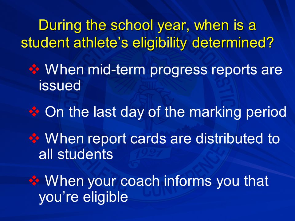 Can a student athlete practice or play on an outside team in the same sport during the season?:   Yes, prior to the school's first scheduled competition   Not under any circumstances   Only with prior approval of his or coach   Only in individual sports