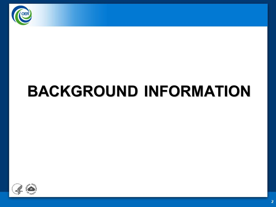 BACKGROUND INFORMATION 2