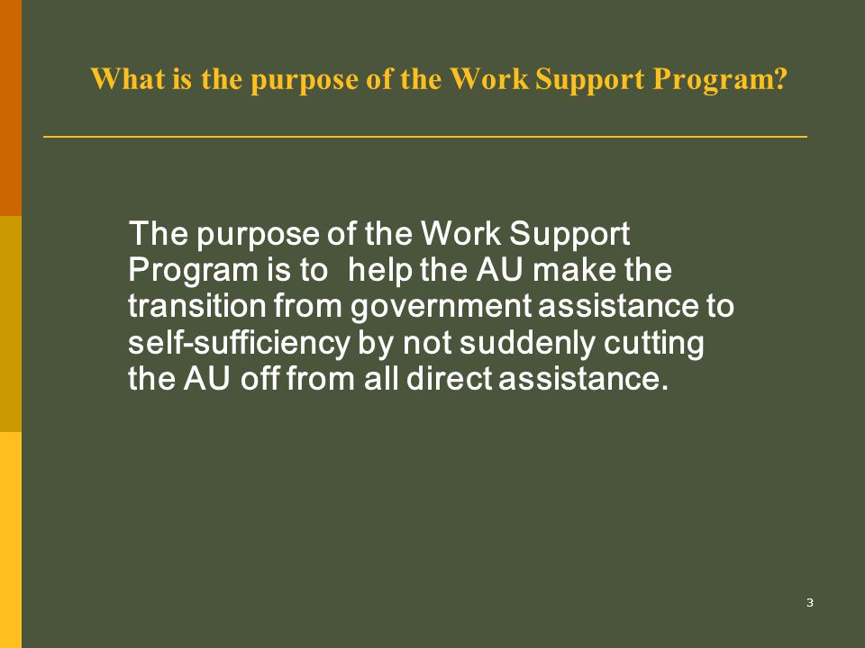 24 Notifying the AU When the WSP is approved, the case manager must explain monitoring requirements to the client.