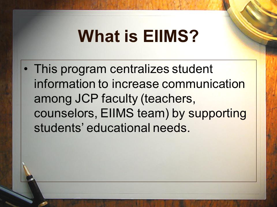 What is EIIMS.