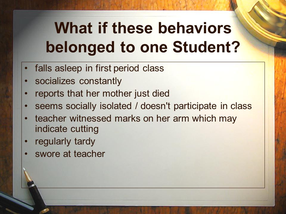 What if these behaviors belonged to one Student.