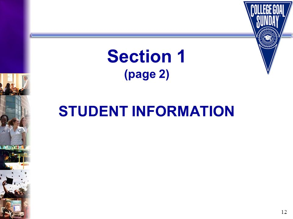 12 Section 1 (page 2) STUDENT INFORMATION