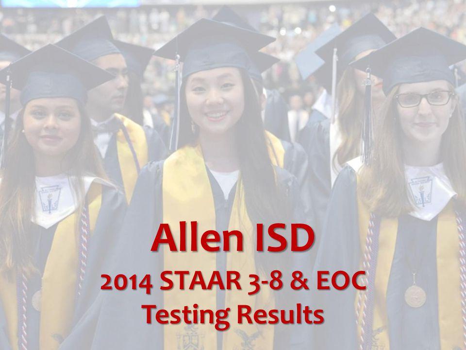 Allen ISD 2014 STAAR 3-8 & EOC Testing Results
