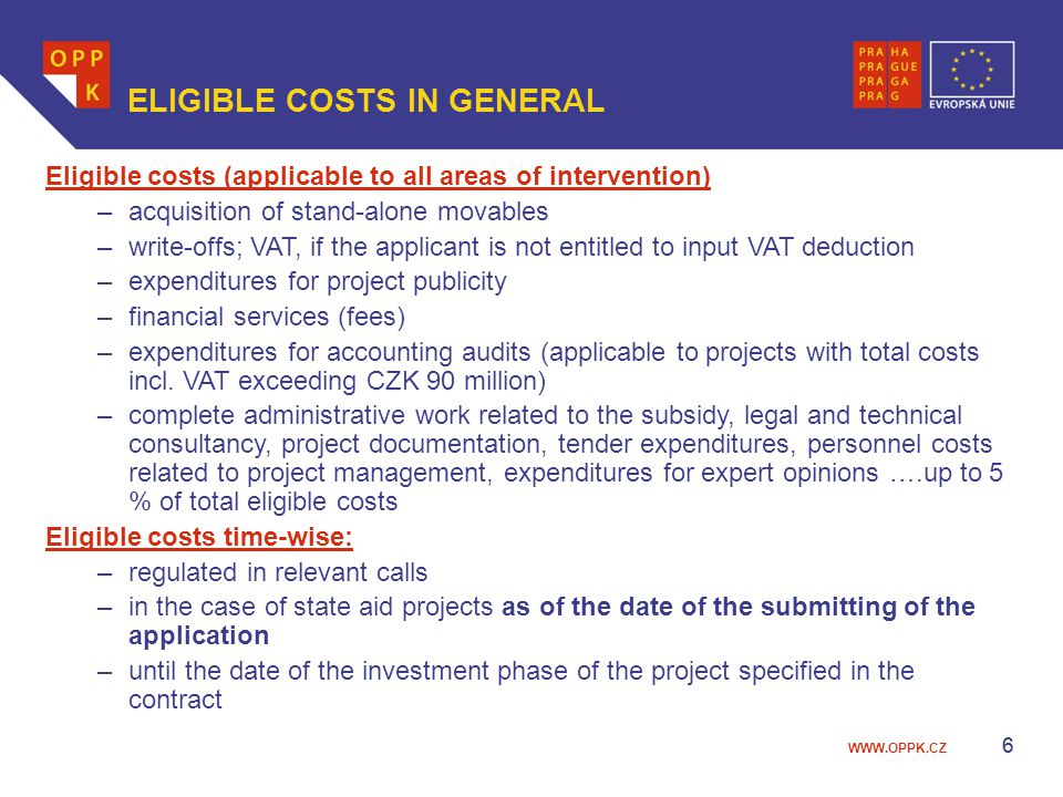 WWW.OPPK.CZ 27 Call Applications eliminated during formal assessment No.